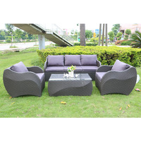 Europe style outdoor furniture rattan /wicker patio sofa set