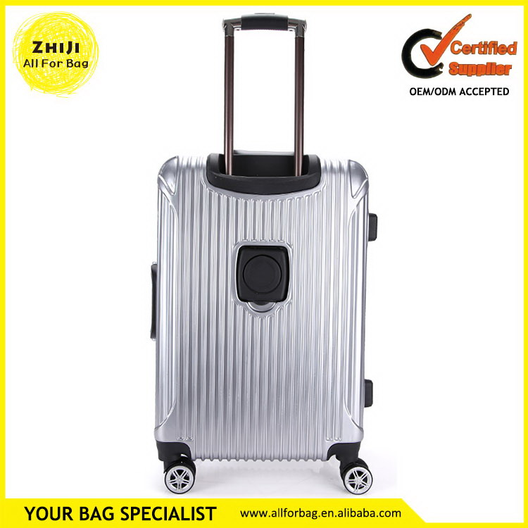 Wholesale useful stripe colorful trolley luggage