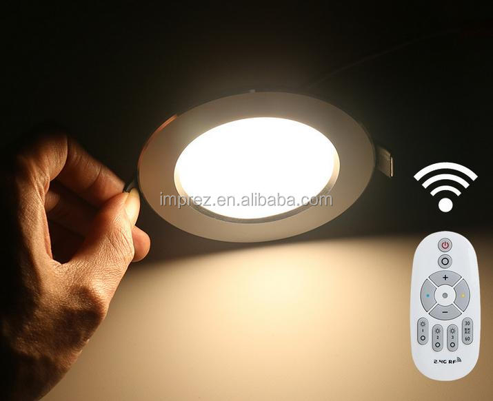 6w led down light CCT adjustable RGB colour changing 2.4G RF remote wifi control