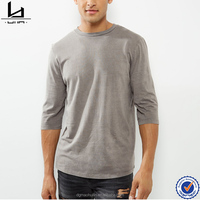 Fashion clothing 2017 men 3/4 sleeves men's t-shirts dy design clothes
