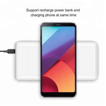 new products 2018 innovative product smartphone wireless phone charger power bank 20000mAh for iphone X