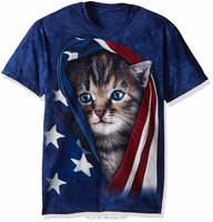 Fashion wholesale custom sublimation cotton couple 3d animal printed t shirt 3d