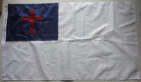 Factory direct embroidery 3x5ft 210D nylon Christian flag