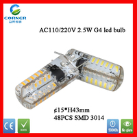 China factory high quality 2W G4 led lighting bulbs, G4 2W LED lighitng, g4 led lighting 2w with CE & RoHS