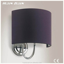 hotel room half moon wall mounted fabric lampshade decorative lighting ,hotel corridor semi-circle wall lamp