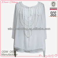 trendy style 3/4 sleeve latest designer tunics for fat women