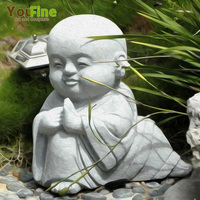 65cm Tall Marble Carved Mini Baby Buddha Statue