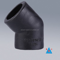 100% new materials Socket fusion PN16 hdpe moulded 45 elbow size from 20mm to 110mm