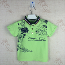 Vietnam cotton and different color combination Polo shirt kids boys from Chinese garment factory