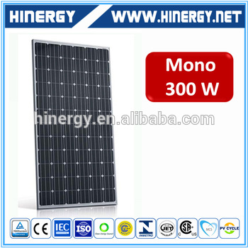 High efficiency and cheap warranty solar panel 300w with 300w mono solar modules for european union market
