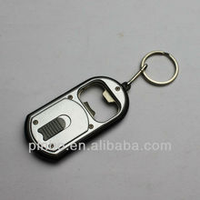 Cheap Bottle Opener Keychains with Led Light and Keyring