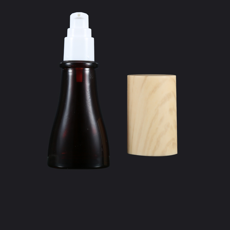 Luxury Packaging Amber Color Glass Cosmetic Bottle And Jar