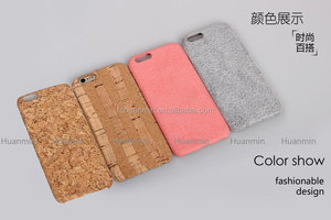 Environmental Wooden PU Leather Mobile Phone Case for iPhone 6S
