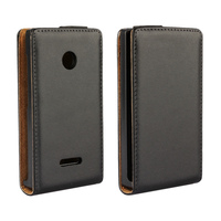 Good Quality Leather Cover Flip Case For Nokia Lumia 435 Stand Phone bag CA269