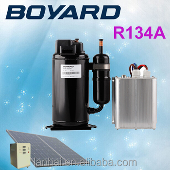 100% solar air conditioner system with zhejiang boyard r134a brushless bldc 48 volt dc compressor ac compresor air conditioner