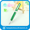 Metal ballpoint pen with square space pattern