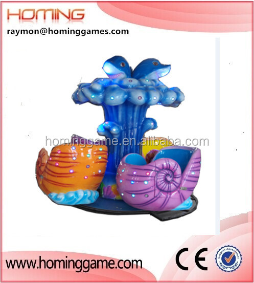 Newest Walking the sea carousel/Amusementang ocean conch design theme park carousel merry go round amusement kids park equipment