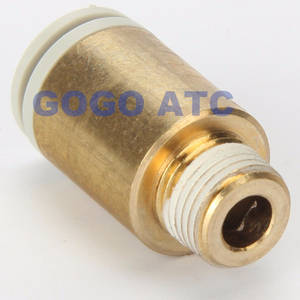 High quality fittings KQ2S12-06S O.D6mm to 12mm thread hexagon socket head male connector one-touch fitting Pneumatic Components