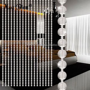 Home Wedding Decoration Round Glass Crystal Beads For Curtains