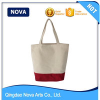 Canvas handle chevron printing canvas tote bag