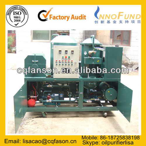 Refrigeration Compressor Oil Recycling Machine/ Diesel Oil Recycling/ Fuel Oil Recycling/ Lube Oil Purification