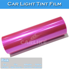 Light Pink Car Tint Stickers/Car Light Wrap Vinyl Film 0.3x10m