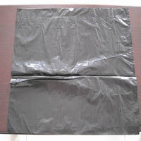 Low price LDPE black color drawstring bag