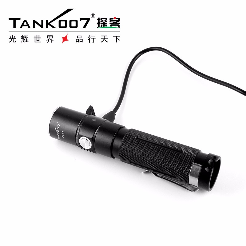 3.7v USB rechargeable high lumen tactical flashlight 1000m long range led flashlight