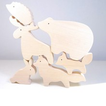 Eco-friendly Wood toys forest animals for baby children kids gift