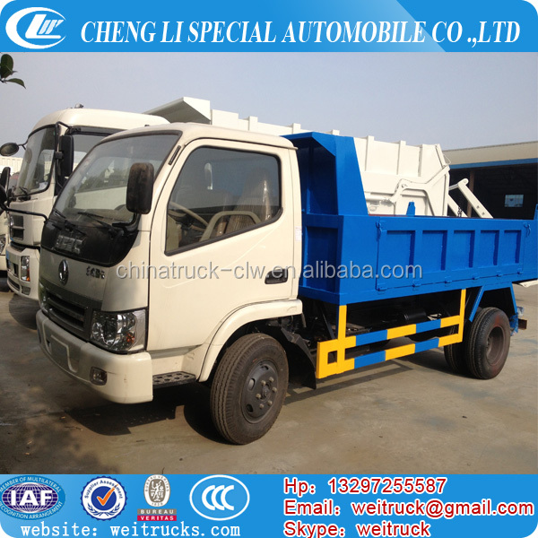 Factory selling single cab 5cbm small dump truck mini tipper truck self-discharge truck