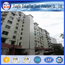 Two story prefabricated light steel structure apartment building