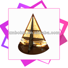 brand shop beautiful luxury cone acrylic jewelry display stand