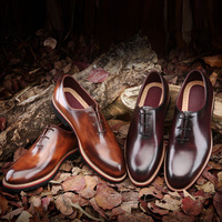 TERSE Italian calfskin leather shoes for men handmade goodyear welted Oxford shoes with factory price