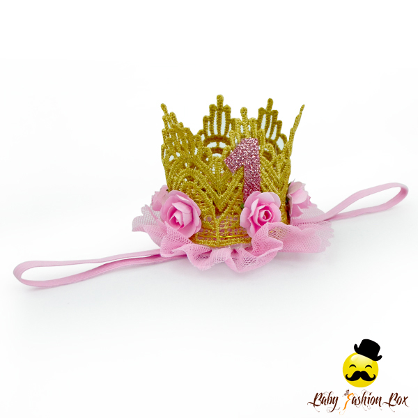 FDK270 Yiwu Yihong Wholesale baby accessories Golden Crown Plastic Crown Party Headband