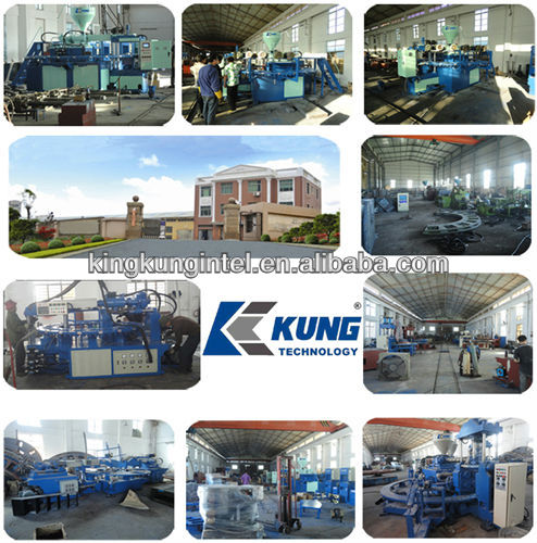 Double color sole injection moulding machine/shoes making machine