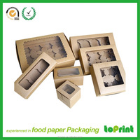 Kraft paper tall cake box for wholesale