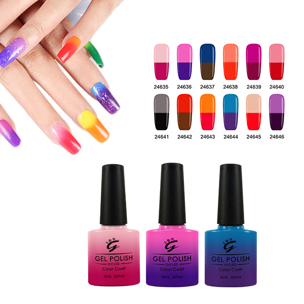 Nail Art Soak Off Mood Changing Fingernail Gel Nail Polish - Buy ...