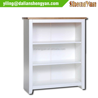 Cheap White Painted Wooden 3 Layers Bookcases