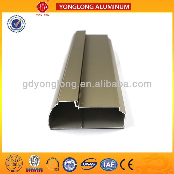 Aluminum extrusion profile,sliding closet door rails accessories in different surface treatment