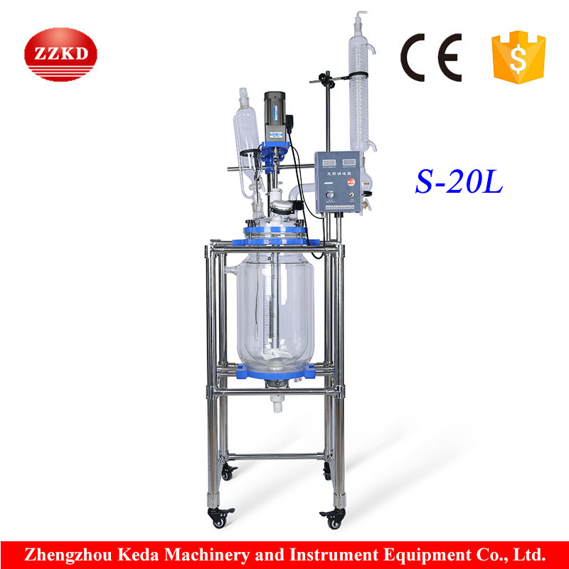 Competitive Automatic GG17 20L Tank Glass Lined Reactor Price