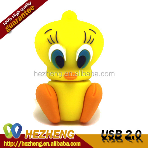 Waterproof Duck 4GB USB Flash Disk Key With DIY Logo