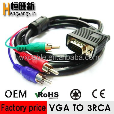 vga to 3rca splitter cable, video and audio cable
