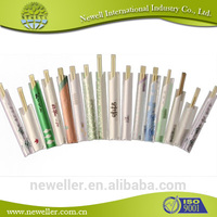 2014 Natural premium packed disposablebamboo round chopsticks telescopic barbeque skewer