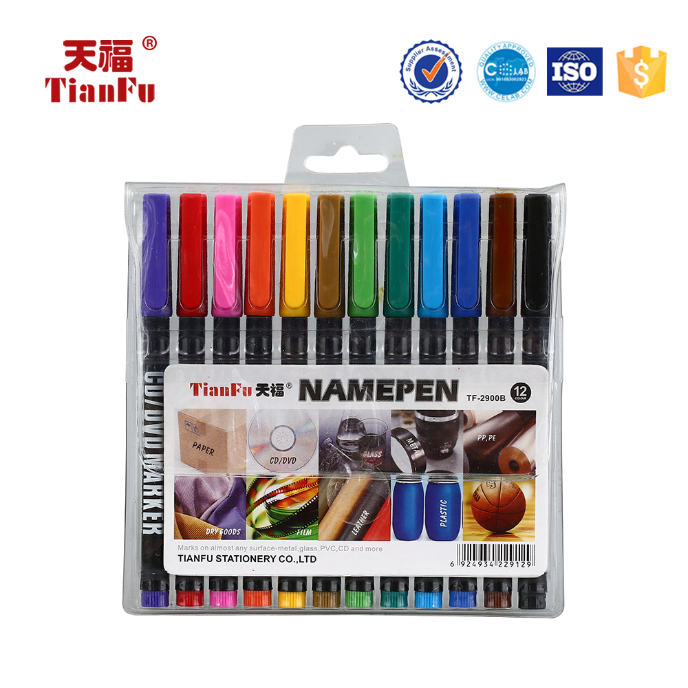 Paper writing different colors CD-2900B textile CD marker pen