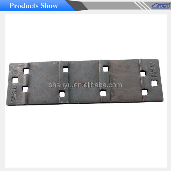 Railway Cast Iron Base Sole Railroad Plates Steel Tie Plate from Suyu