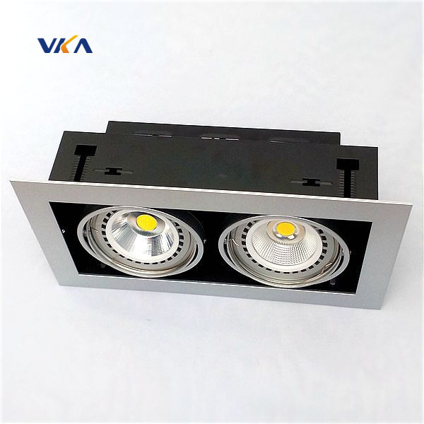 High Brightness 2x10w 2x12w 2x15w Available double Head Led Grille Light