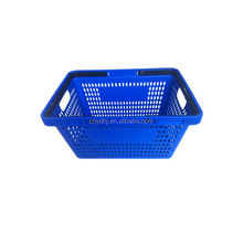 Best selling collapsible frame security supermarket plastic shopping baskets