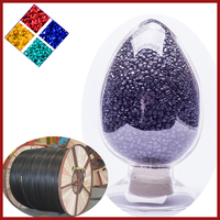 PVC wire and cable used Black pvc cable materials