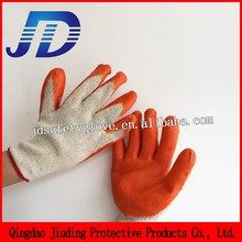 Industrial safety equipment , rubber glove with 10g knitted cotton liner