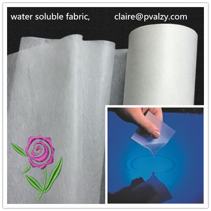 PVA dissolvable raw material water soluble fabric for clothing,non woven products